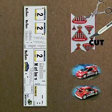Marlboro Decals für Peugeot 206 WRC, Rallye Catalunya, 2003, für Ixo-Altaya,1:43