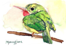 ACEO Limited Edition - Jamaican tody, Bird art print, Gift for her