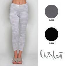 CHALET USA Bamboo Cotton Lycra LEGGINGS Pant Long Ankle XS S M L XL  2017 COLORS