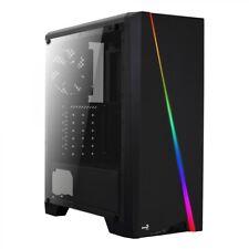 Aerocool Cylon ATX Midi Tower Gaming Gehäuse Schwarz Arcyl-Fenster RGB LED 120mm