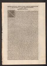 EARLY PRINTED LEAF/PAGE -  UNRESEARCHED LEAF - LARGE WOODBLOCK CAPITAL LETTER