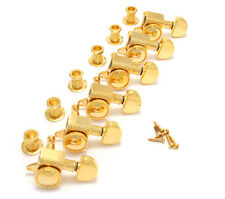 Grover Gold 6 Inline Roto-Grip Mini Locking Guitar Tuners 505G6