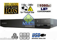 Sony BDP-S1700 Region Free DVD & BD ZONE ABC Blu-Ray Disc Player- USB- 100-240V