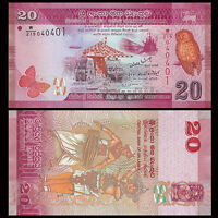Sri Lanka 20 Rupees Banknote, 2010-2016, P-123, UNC, Asia Paper Money