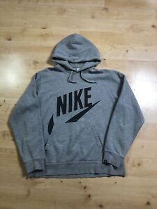 Vintage Nike Grey Mens Large Spellot Graphic Hoodie