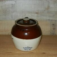 Vintage Stoneware # 2 Crock With Lid And Handle
