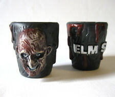 S/2 Freddy Krueget Cup Shot Glass Glasses A Nightmare on Elm Street Halloween