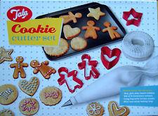 Tala Navidad Cookie Cutter Set De 10 Gingerbread Man & Woman, Corazón, Estrella, Círculo