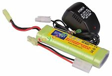 1x 9.6V NiMH 2800mAh Battery Pack For RC Tank Car Airsoft+ Charger RC Airsoft