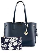 Michael Kors Bag Handbag Trista LG Drawstring Tote Bag Clutch Navy White