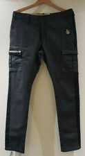 SALE Womens Dark grey Skinny combat style pants with lace detail size medium