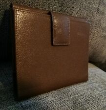 Giorgio Salvini Brown Pebbled Leather Bi-fold Wallet