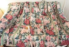 """John Lewis Crowson Windsor pink & green floral lined cotton curtains 73""""W x 56""""L"""