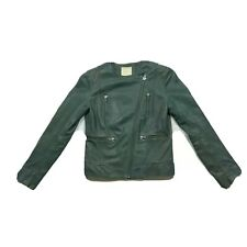 Gorman Size 6 Green Leather Jacket