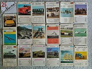 Kartenspiel/Quartett, Einzelkarten Konvolut, nur Großformat -25-