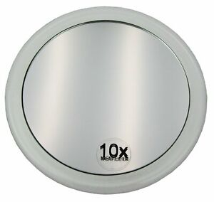 Davartis - Make-up Spiegel mit Saugnäpfen Ø 15cm - 10fach Vergrößerung