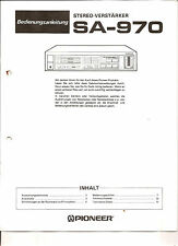 Bedienungsanleitung Notice d ´emploi Handbook of Instruction Pioneer SA-970