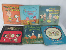 CHARLIE BROWN BOOKS First Editions Charles Schulz World Publishing HC Lot of Six