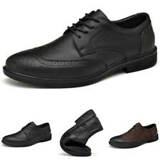 Brogue Mens Business Leisure Leather Shoes Wing Tip Carved Oxfords Work Office L
