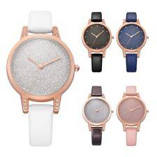 Fashion Popular Bling Leather Quartz Woman Wrist Watch Lady Diamond Shiny Watch