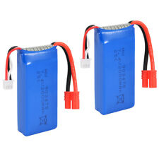 2x Battery 7.4V 2000mAh Round Plug Lipo Battery for Syma X8C X8W X8G Quad BC525