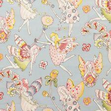 1m Flower Fairies Light Blue, Alexander Henry fabric PER METRE fantasy beautiful