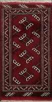 Traditional Geometric Bokhara Oriental Area Rug Hand-knotted Foyer Carpet 2'x3'