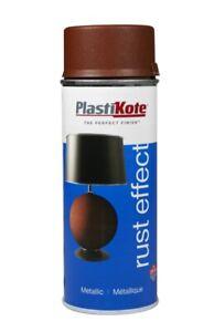 Plastikote Metallic Paint Rust Effect Craft Spray Paint 400ml Rust Coloured