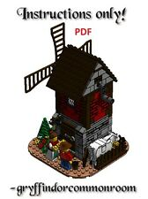 Lego Custom Farmer's Windmill INSTRUCTIONS ONLY !