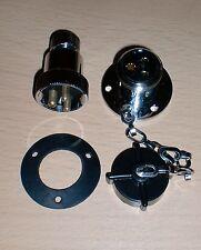 ECS 2306 Waterproof Brass Plug & Socket 3 Pin 12v/24v 5A Marine Caravan Deck