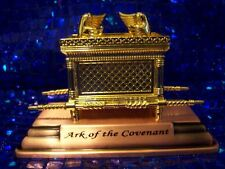Jewish Gold Ark of God the Covenant Testimony on Copper Base - Small Size