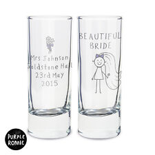 PERSONALISED SHOT GLASS HEN NIGHT BRIDE TO BE GIFT IDEA   FUNNY PRESENT