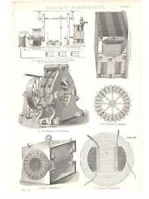 Antique Encyclopedia Print c1800s - Voltaic Electricity. Plate 3.