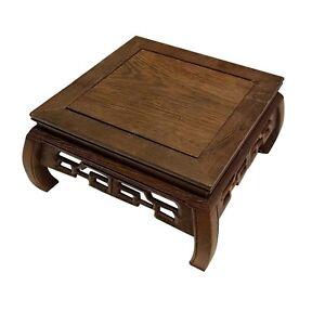 """Hand Craft Wooden Oriental Vase Stand 5.5"""""""