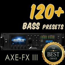 ✪ 120+ BASS Presets ✪ For Fractal Axe FX 3 ✪ Quality tones & patches Collection