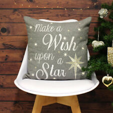 Riva Paoletti Wish Upon A Star Light Up Cushion Cover, Grey, 45 x 45 Cm