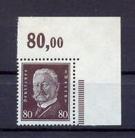 DR 422 Reichspräsidenten 80 Pfg. POR postfrisch Eckrand (fs18)