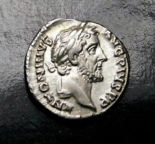 Antoninus Pius. Stunning Denarius. Father to Marcus Aurelius. Roman Silver Coin.