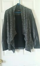 Knit Jacket With Pleather Sleeves Size L