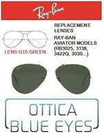 Lenti di Ricambio RAYBAN AVIATOR Replacement Lenses Ray Ban 3025 G15 L0205 001
