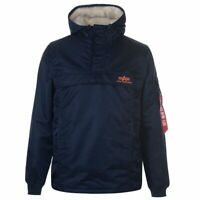 Mens Alpha Industries HPO Anorak Rain Jacket Hooded New