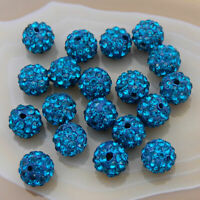 10mm Shamballa Rhinestone Pave Clay Round Disco Ball Beads 100PCS Beaded
