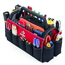"10-Pocket 17"" Husky Tool Box Technicians Tool Bags Storage Tote Rotating Handle"