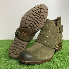 Caterpillar CAT Anna Rose Boots Olive/Brown P310597 Women's Size 9