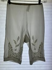 New listing M Vintage Youth Form Long Leg Nylon Panty Silky Sheer Lace Appliqué