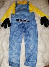 HALLOWEEN COSTUME:Minion Kevin Despicable Me Boy m Jumpsuit Gloves+ Cosplay