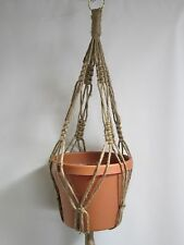 Macrame Plant Hanger 28in 6PLY All Natural JUTE-  hvyDty