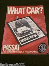 WHAT CAR? - VW PASSAT - JULY 1988