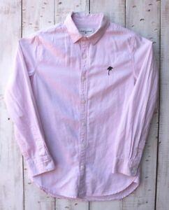Modern Amusement Mens Long Sleeve Casual Button-Down Size Small Pink Shirt DJF