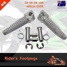 Front Foot Rest Pegs for Kawasaki Ninja ZX-6R ZX636 ZX9R Z1000 Z750 Motorcycle